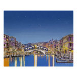 Estrellas sobre el poster de Venecia