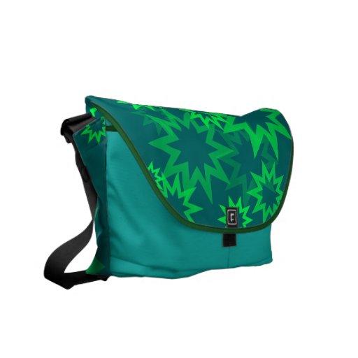 Estrellas verdes claras bolsas de mensajería