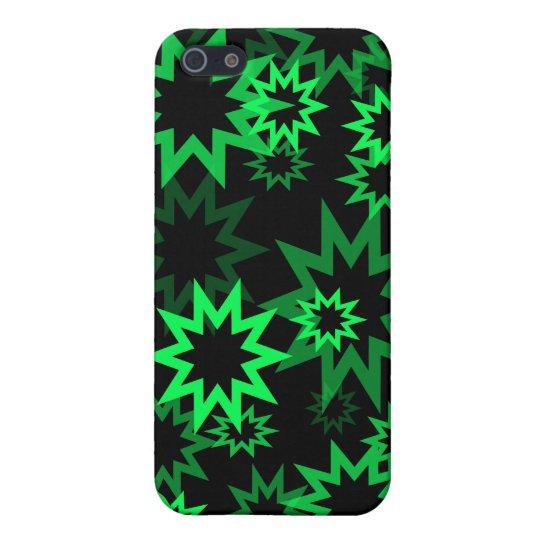 Estrellas verdes claras iPhone 5 funda