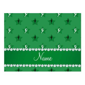 Estrellas verdes conocidas personalizadas de la tarjeta postal