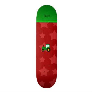 """Estrellas verdes conocidas personalizadas del rojo patineta 7 7/8"""""""