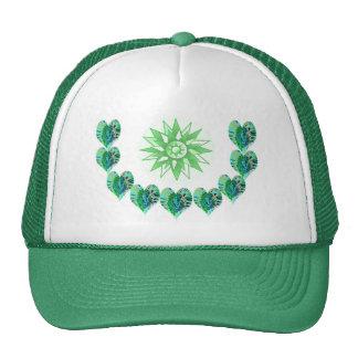 ESTRELLAS VERDES del verde de los corazones n Gorra