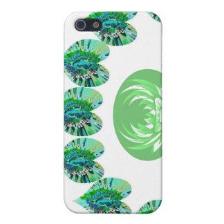 ESTRELLAS VERDES del verde de los corazones n iPhone 5 Funda