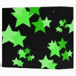 """Estrellas verdes y negras 2"""" carpeta"""