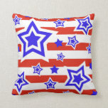 Estrellas y almohada de tiro patrióticas de las ra
