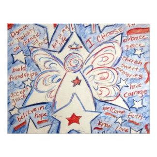 Estrellas y ángel de las rayas comunicados personales