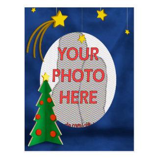 Estrellas y árbol de navidad de Navidad del Postal