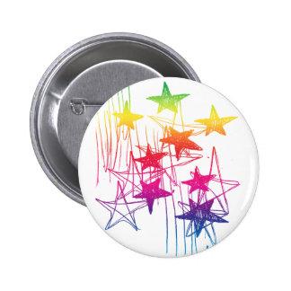 Estrellas y arco iris de los garabatos pins