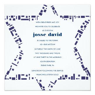 Estrellas y azul de la invitación de Mitzvah del