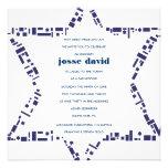 Estrellas y azul de la invitación de Mitzvah del p