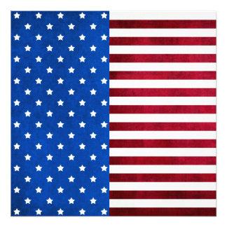 Estrellas y bandera Raya-Americana Cojinete