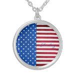 Estrellas y bandera Raya-Americana Colgante Personalizado