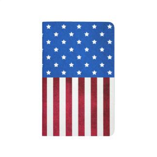 Estrellas y bandera Raya-Americana Cuadernos Grapados