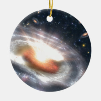 Estrellas y calabozos adorno navideño redondo de cerámica