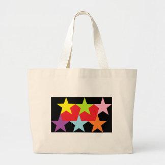 Estrellas y corazones multicolores bolsas de mano