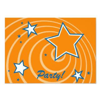 Estrellas y fiesta retros adaptables de los invitación personalizada