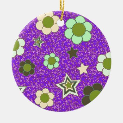 ¡Estrellas y flores! Ornamentos Para Reyes Magos