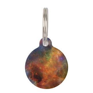 Estrellas y galaxias del arco iris placas de mascota