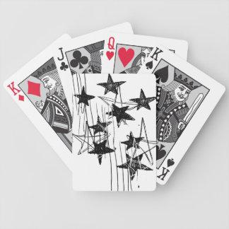Estrellas y garabatos baraja de cartas