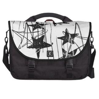 Estrellas y garabatos bolsas de portatil
