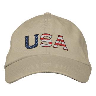 Estrellas y gorra bordados los E.E.U.U. de las ray Gorras Bordadas