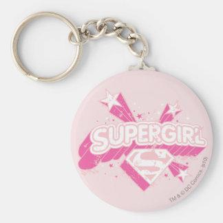 Estrellas y logotipo de Supergirl Llavero