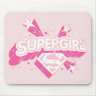 Estrellas y logotipo de Supergirl Mousepads