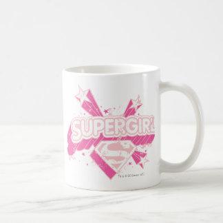 Estrellas y logotipo de Supergirl Taza De Café