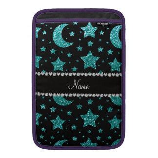 Estrellas y lunas azules del brillo del huevo cono fundas macbook air