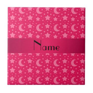 Estrellas y lunas conocidas personalizadas del ros azulejo ceramica