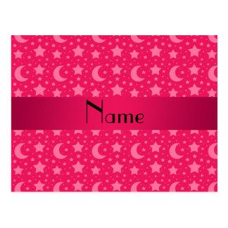 Estrellas y lunas conocidas personalizadas del ros tarjetas postales
