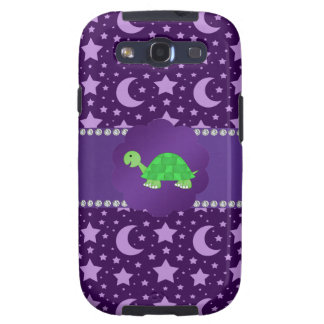 Estrellas y lunas lindas de la púrpura de la tortu galaxy SIII carcasa