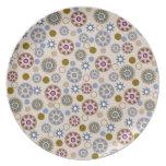 Estrellas y modelo elegantes de los círculos platos