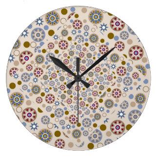 Estrellas y modelo elegantes de los círculos relojes de pared
