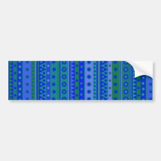 Estrellas y modelo rayados azules y verdes de los pegatina de parachoque