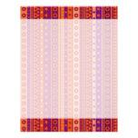 Estrellas y modelo rayados púrpuras y anaranjados  membretes personalizados