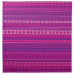 Estrellas y modelo rayados púrpuras y rosados de l servilletas imprimidas