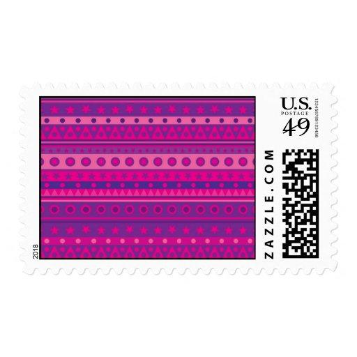Estrellas y modelo rayados púrpuras y rosados de envio