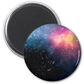 Estrellas y nebulosas imán redondo 5 cm