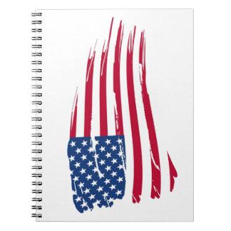 Estrellas y orgullo del americano de las rayas libro de apuntes
