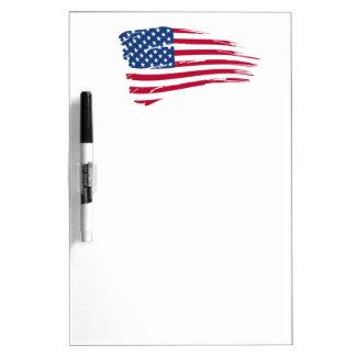 Estrellas y orgullo del americano de las rayas pizarras blancas