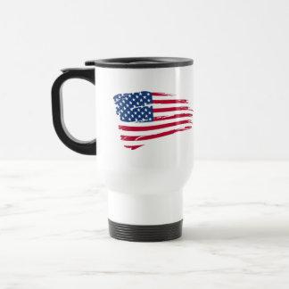Estrellas y orgullo del americano de las rayas taza de café
