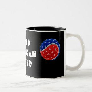 Estrellas y pelota de tenis de las rayas - jugador taza de café
