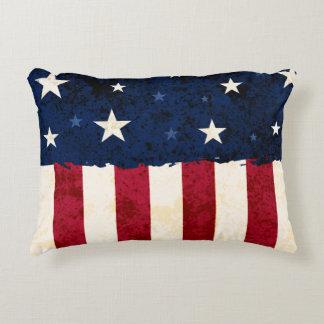 Estrellas y rayas americana de la gente cojín decorativo