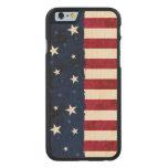 Estrellas y rayas americana de la gente funda de iPhone 6 carved® slim de arce