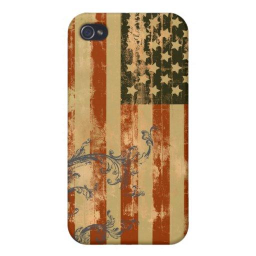 Estrellas y rayas apenadas iPhone 4/4S carcasas