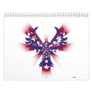 Estrellas y rayas de American Eagle Calendario