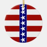Estrellas y rayas de blanco y azul rojos ornamente de reyes