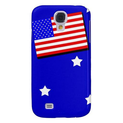 Estrellas y rayas de la bandera americana funda para galaxy s4
