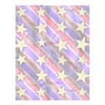 Estrellas y rayas de la bandera plantillas de membrete